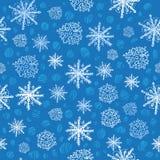 deseniowy bezszwowy płatek śniegu Obraz Stock