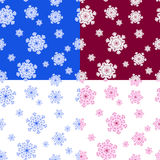 deseniowy bezszwowy płatek śniegu Obraz Royalty Free