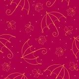 deseniowy bezszwowy parasol Zdjęcie Royalty Free