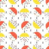 deseniowy bezszwowy parasol Obrazy Stock