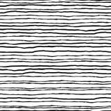 deseniowy bezszwowy pasiasty Czarne horyzontalne linie na białym plecy Zdjęcie Stock