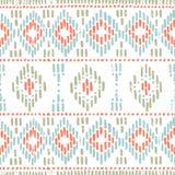 deseniowy bezszwowy pasiasty Etniczni i plemienni motywy Rocznika prin ilustracji