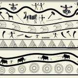 deseniowy bezszwowy plemienny Obraz Stock