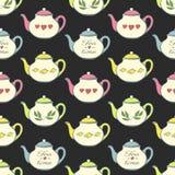 deseniowy bezszwowy teapot Zdjęcia Stock