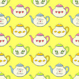 deseniowy bezszwowy teapot Obrazy Stock