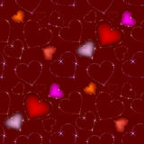 deseniowy bezszwowy valentine Obrazy Stock