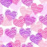 deseniowy bezszwowy valentine Zdjęcia Royalty Free