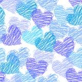 deseniowy bezszwowy valentine Fotografia Royalty Free