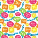 deseniowy bezszwowy zakupy Obraz Stock