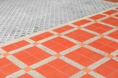 Deseniowy blokowy płytki podłoga tekstury kamienia lub piaskowa obmycia tło obraz stock