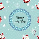 Deseniowy Bożenarodzeniowy Szczęśliwy nowy rok ilustracja wektor