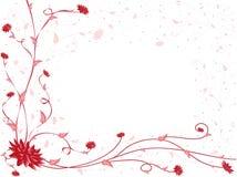 deseniowy czerwony biel Zdjęcie Stock