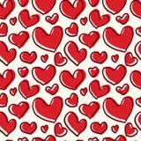 Deseniowy czerwony serce z gęstą linią Zdjęcie Royalty Free