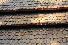 Deseniowy drewno dach Obraz Royalty Free