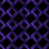 Deseniowy geometryczny bezszwowy złudzenie wzór niemożliwi kształty - kwadraty, rhombuses, ukośniki asteroidów niebo Zdjęcia Stock