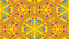 deseniowy kaleidescope kolor żółty ilustracja wektor