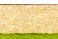 Deseniowy kolor nowożytnego stylowego projekta reala dekoracyjny płotowy kamień Fotografia Stock