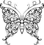 Deseniowy koronkowy motyl Zdjęcia Stock