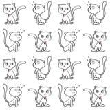 Deseniowy kot sztuki tło Obrazy Royalty Free