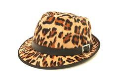 Deseniowy lamparta kapelusz. Obrazy Royalty Free