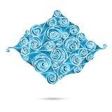 Deseniowy ślimacznica motyw dla rocznika projekta karty Obrazy Royalty Free