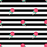 Deseniowy lizaka czerni biel ilustracji