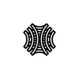 Deseniowy loga szablon | wektor obrazy royalty free