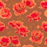 deseniowy makowy bezszwowy Fotografia Royalty Free