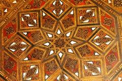 deseniowy moroccan drewno Zdjęcia Stock