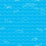 deseniowy morze royalty ilustracja