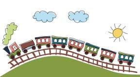 deseniowy pociąg Obrazy Stock
