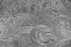 deseniowy srebro Obraz Royalty Free