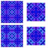 Deseniowy symetryczny symetryczny wzór w błękicie dla płytek, bedspreads, szkocka krata ilustracja wektor