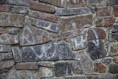 Deseniowy szary kolor nowożytnego stylowego projekta kamiennej ściany dekoracyjna nierówna krakingowa istna powierzchnia z cement zdjęcie stock