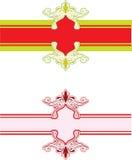 Deseniowy sztandar Zdjęcia Royalty Free