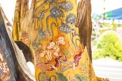 Deseniowy tajlandzki rzeźbi Fotografia Stock