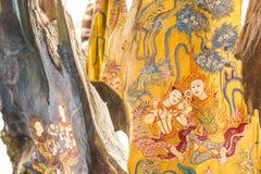 Deseniowy tajlandzki rzeźbi Obraz Royalty Free