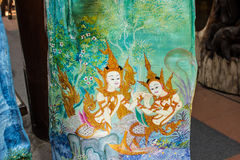 Deseniowy tajlandzki rzeźbi Obrazy Stock