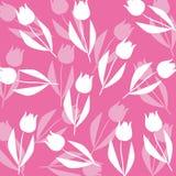 Deseniowy tulipanu tło Zdjęcia Stock