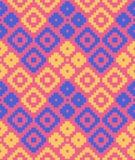 deseniowych piksla rhombuses bezszwowy wektor Obrazy Royalty Free