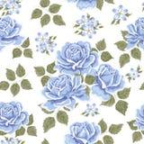 deseniowych róż bezszwowa tapeta Obraz Stock