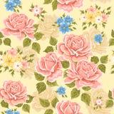 deseniowych róż bezszwowa tapeta Fotografia Stock