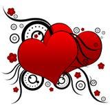 deseniują czerwone serce ilustracja wektor