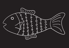 deseniująca ryb Fotografia Stock