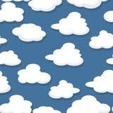 deseniują bezszwowego chmury Zdjęcia Stock