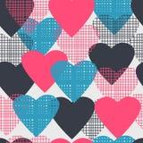 deseniują bezszwowego serca Zdjęcie Royalty Free