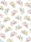 Deseniuje coloured bicykle, biały tło, wektor Obraz Stock