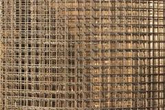Deseniuje od sterty dopasowanie siatki przy budową Zdjęcie Stock