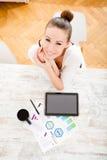 Desenvolvendo um plano empresarial Foto de Stock Royalty Free