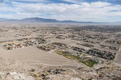 Desenvolvimento alastrando do deserto Fotos de Stock Royalty Free